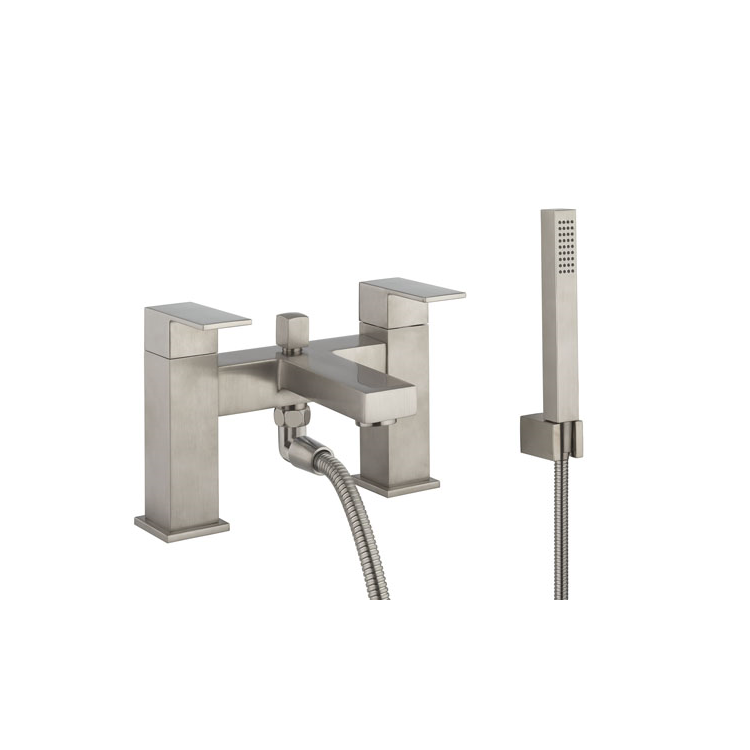 Photo of Crosswater Verge Brushed Stainless Steel Bath Shower Mixer Cutout