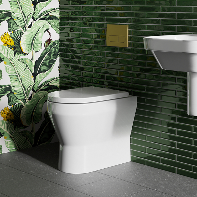 Lifestyle Photo of Britton Bathrooms Curve2 Rimless Back to Wall WC & Seat