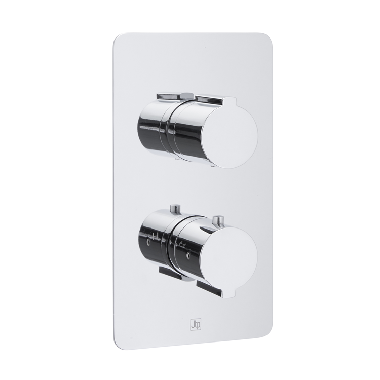 Photo of JTP Curve Twin Outlet Thermostatic Shower Valve Cutout
