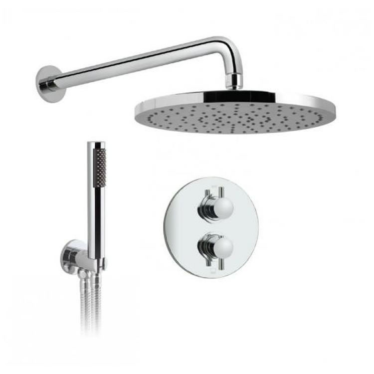 Vado Celsius Concealed Twin Outlet Thermostatic Shower Valve Package Image 1