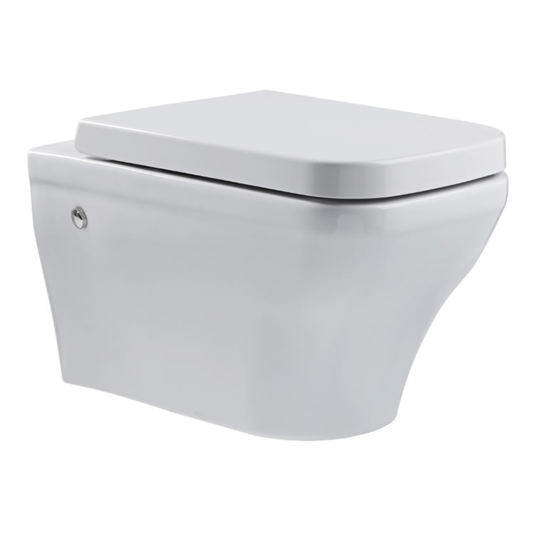 Roper Rhodes Cover Rimless Wall Hung WC & Soft Close Seat