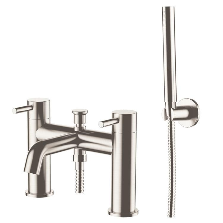Photo of JTP Inox Brushed Stainless Steel Bath Shower Mixer with Kit Cutout