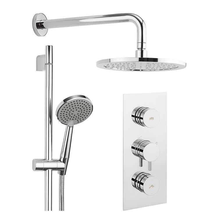 Photo of Crosswater Dial 2 Outlet Shower Kit with Fixed Head & Handset Outline