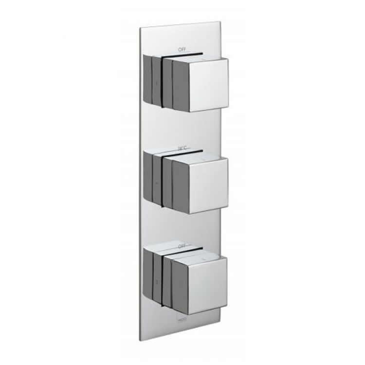 Vado Notion Dual Outlet Three Control Thermostatic Shower Valve