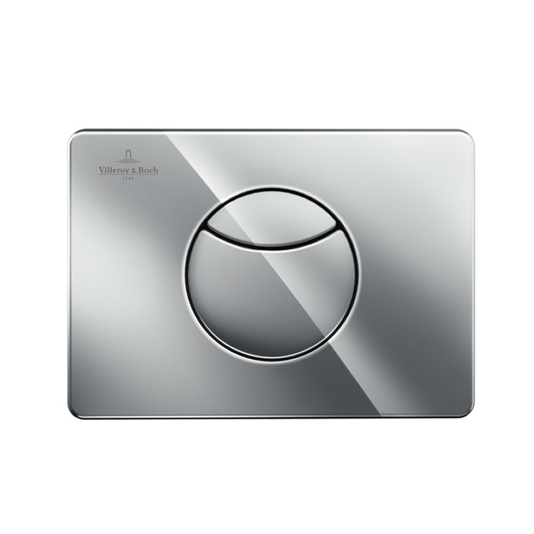 Photo of Villeroy and Boch Viconnect Chrome Dual Flush Plate