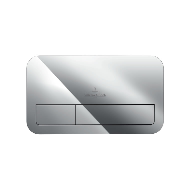 Photo of Villeroy and Boch Viconnect E200 Chrome Dual Flush Plate