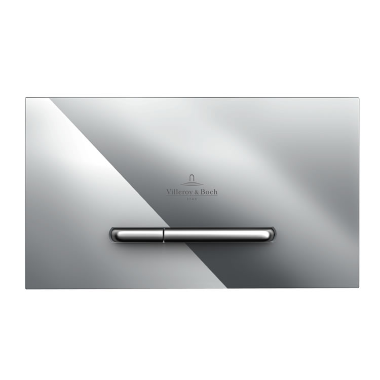 Photo of Villeroy and Boch Viconnect E300 Chrome Dual Flush Plate