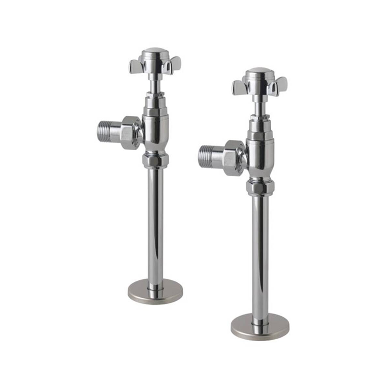 Cutout Photo of Eastbrook Traditional Chrome Radiator Valves and Tails