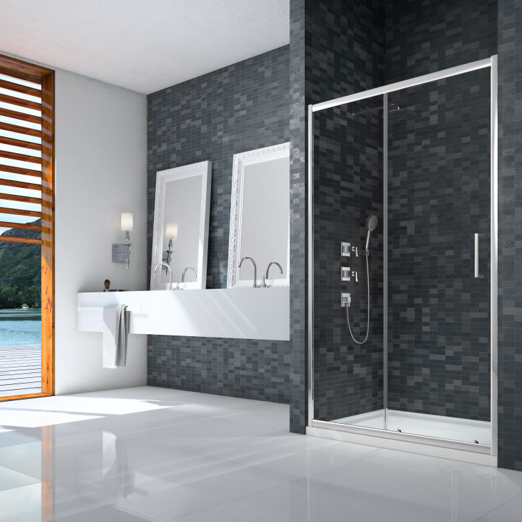 Ionic By Merlyn Essence Framed Sliding Door Lifestyle Image