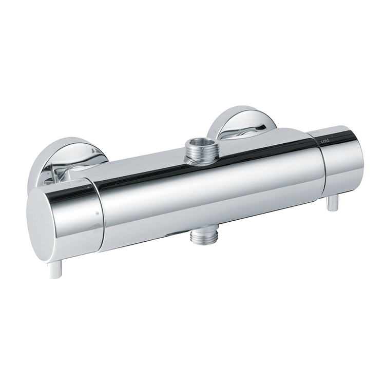 Photo of JTP Florence Chrome Wall Mounted Two Outlet Thermostatic Bar Valve Cutout