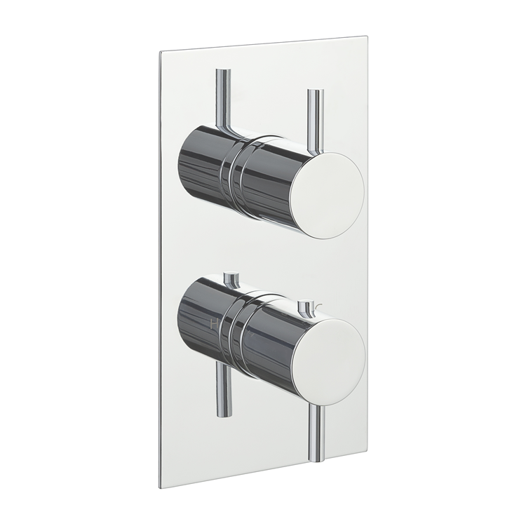 Photo of JTP Florence Chrome Twin Outlet Thermostatic Shower Valve Cutout