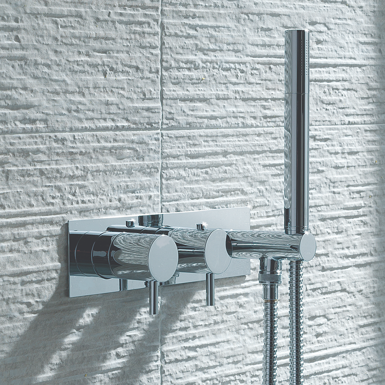 Lifestyle Photo of JTP Florence Chrome Single Outlet Thermostatic Shower Valve with Handset