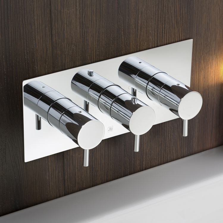 Lifestyle Photo of JTP Florence Chrome Twin Outlet Landscape Thermostatic Shower Valve