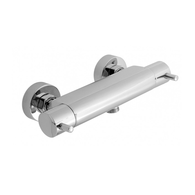 Photo of JTP Florence Chrome Wall Mounted Thermostatic Bar Valve Cutout