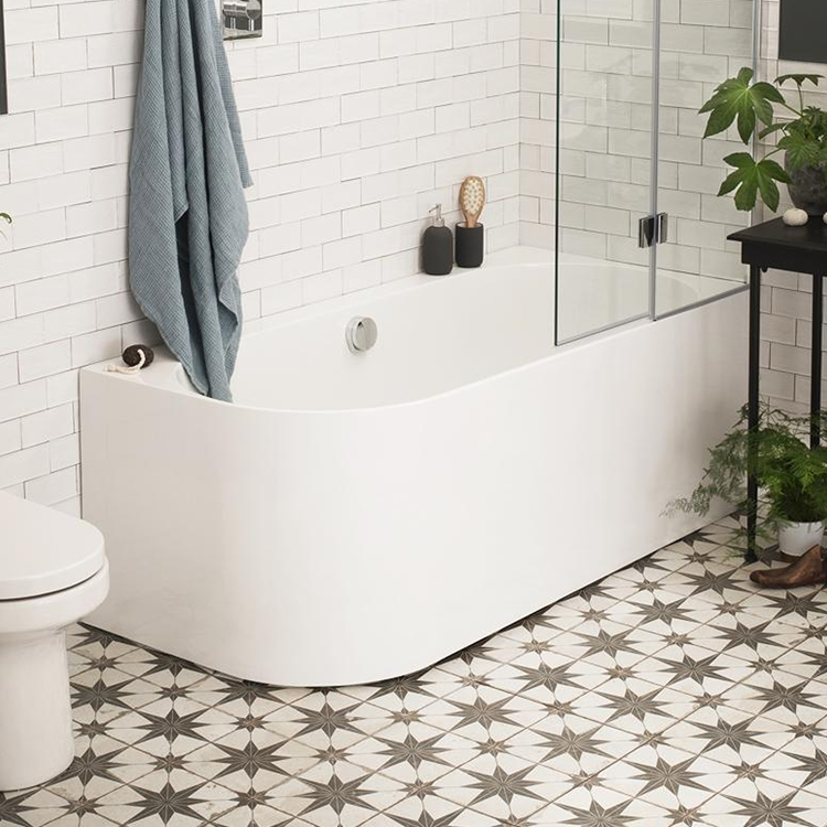 Photo of Waters Flow 1660mm Single Ended Shower Bath