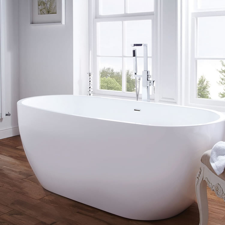 Frontline Summit Freestanding 1480 x 750mm Double Ended Bath - Image 1
