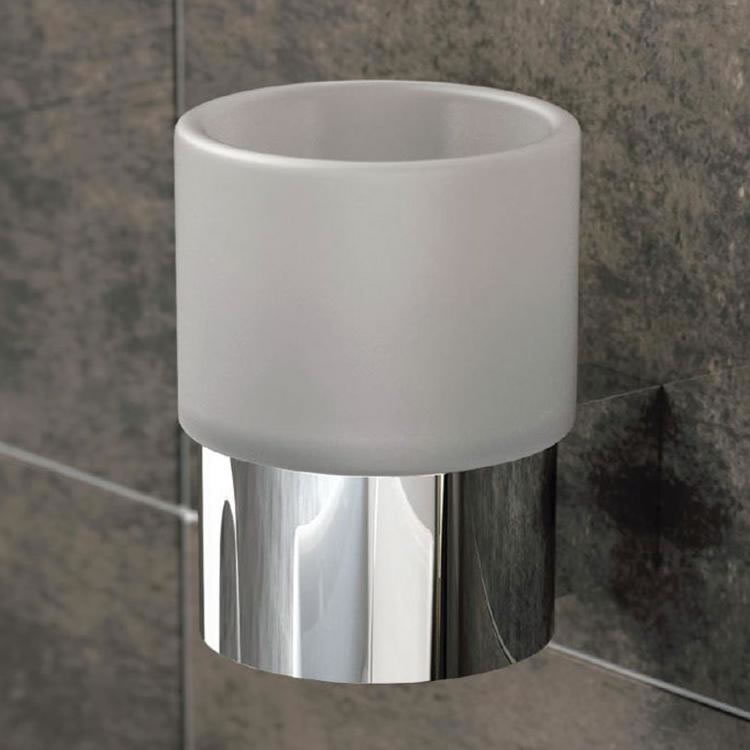 Vado Infinity Frosted Glass Tumbler & Holder Lifestyle Image 1