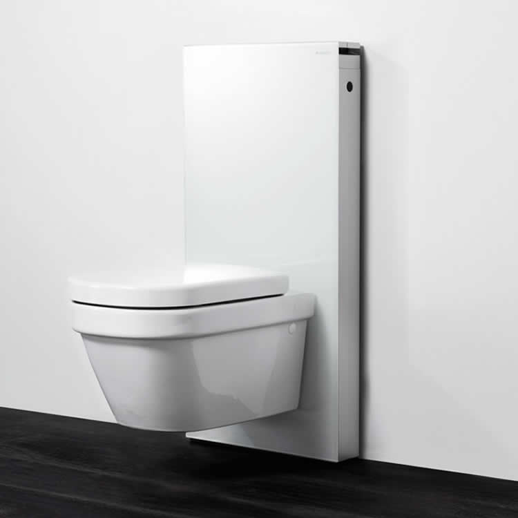 Geberit Monolith White Wall Hung WC Frame & Cistern