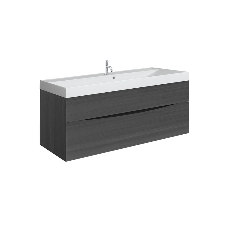 Photo of Crosswater Glide II Steelwood 1000mm Wall Hung Unit & Cast Marble Basin Cutout