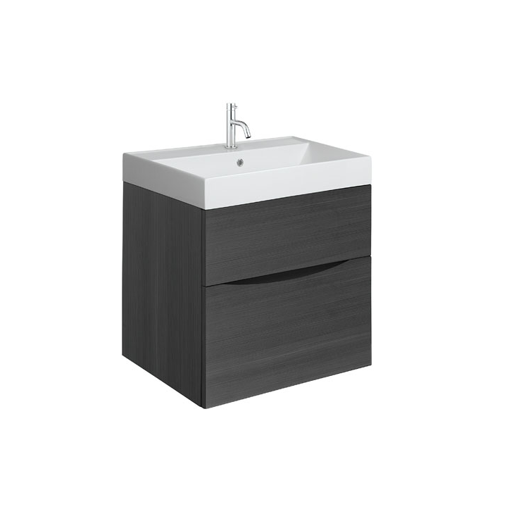 Photo of Crosswater Glide II Steelwood 500mm Wall Hung Unit & Cast Marble Basin Cutout
