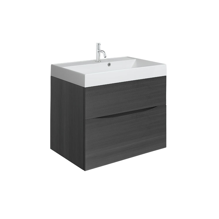 Photo of Crosswater Glide II Steelwood 700mm Wall Hung Unit & Cast Marble Basin Cutout