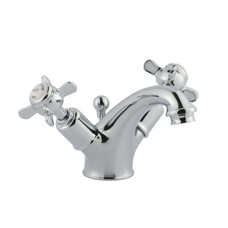 Photo of JTP Grosvenor Pinch Chrome Basin Mixer with Pop Up Waste Cutout