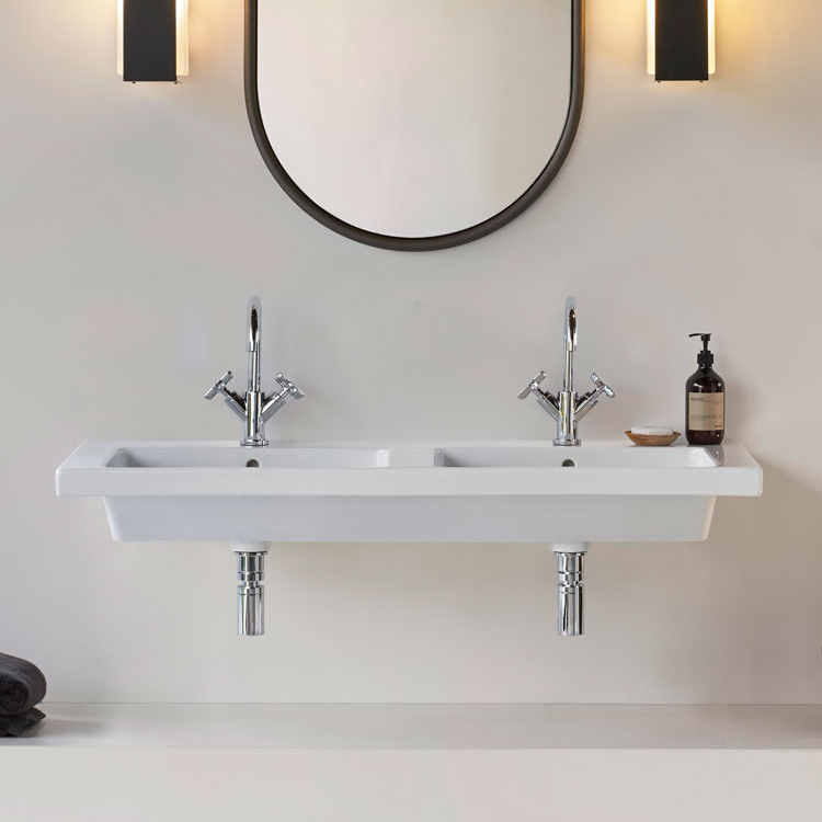Lifestyle Photo of GSI Norm 125 x 50 Wall Hung Double Wash Basin