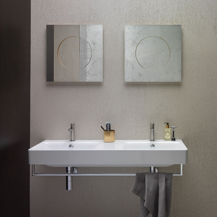 Lifestyle Photo of GSI Sand 125 x 50 Double Wall Mounted Basin