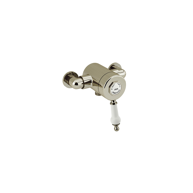 Photo of Heritage Glastonbury Vintage Gold Exposed Shower Valve with Bottom Outlet