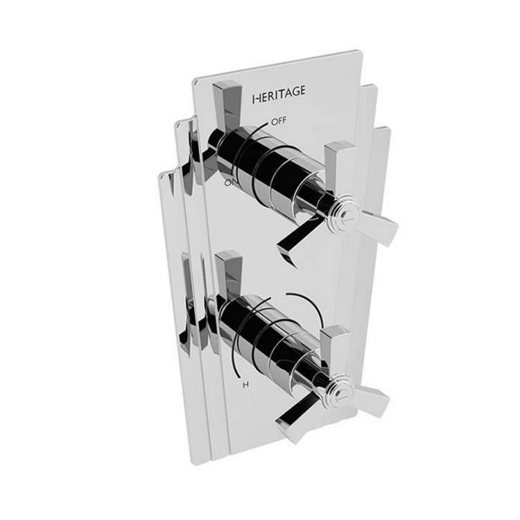 Heritage Gracechurch Recessed Shower Valve with Integral Two Outlet Diverter Chrome Finish Image