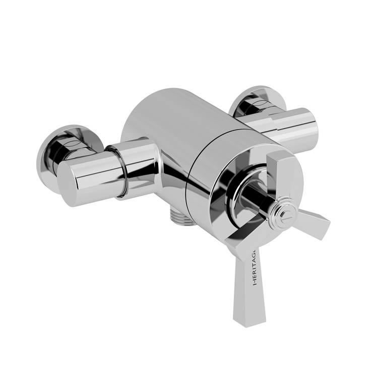 Heritage Gracechurch Exposed Shower Valve with Bottom Outlet Chrome Finish Image
