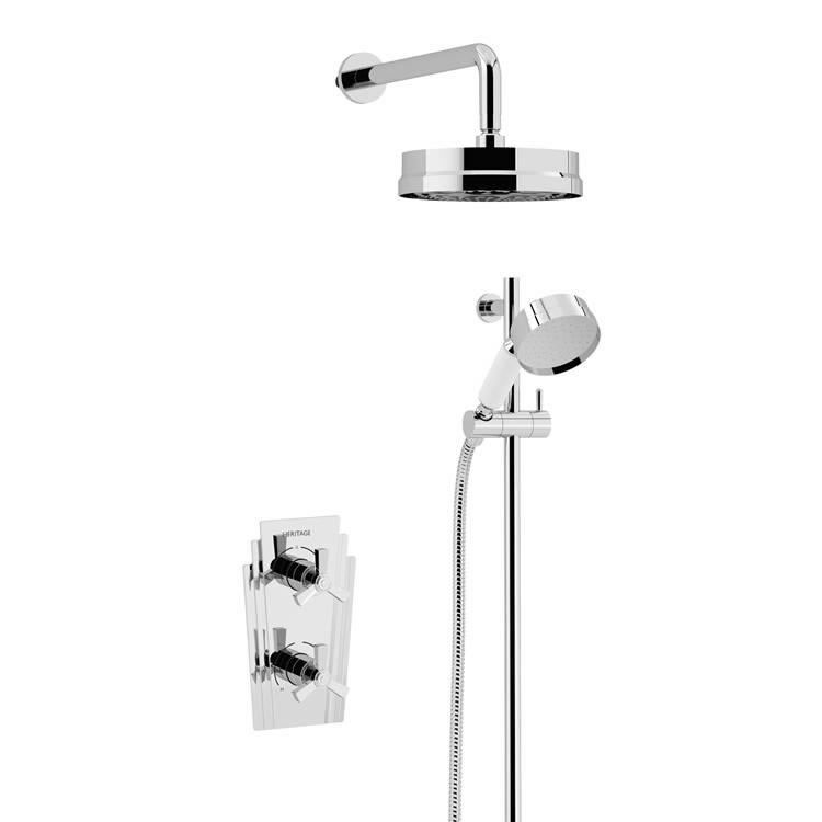 Heritage Gracechurch Recessed Shower with Deluxe Fixed Head and Flexible Riser Kit