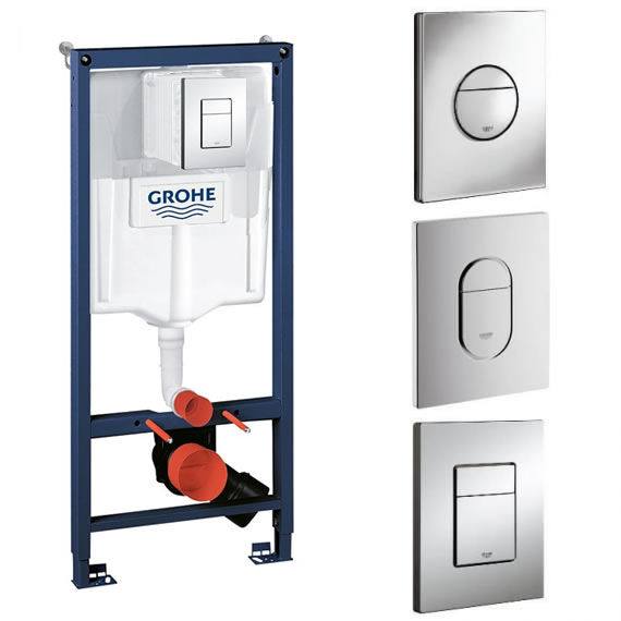 Grohe Fresh 4 In 1 1.13 Rapid SL Cistern Frame Pack