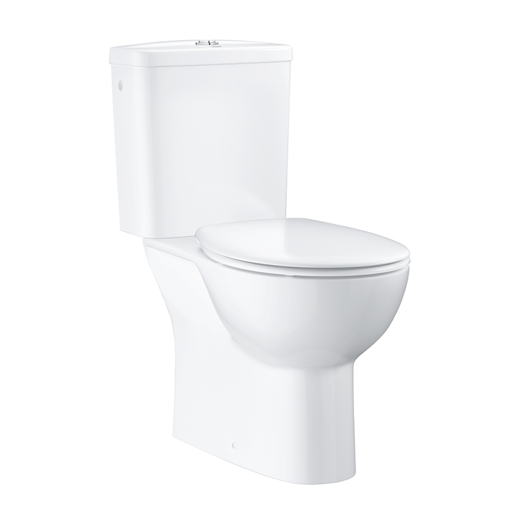 Grohe Bau Rimless Close Coupled WC with Cistern & Soft Close Seat Image 1