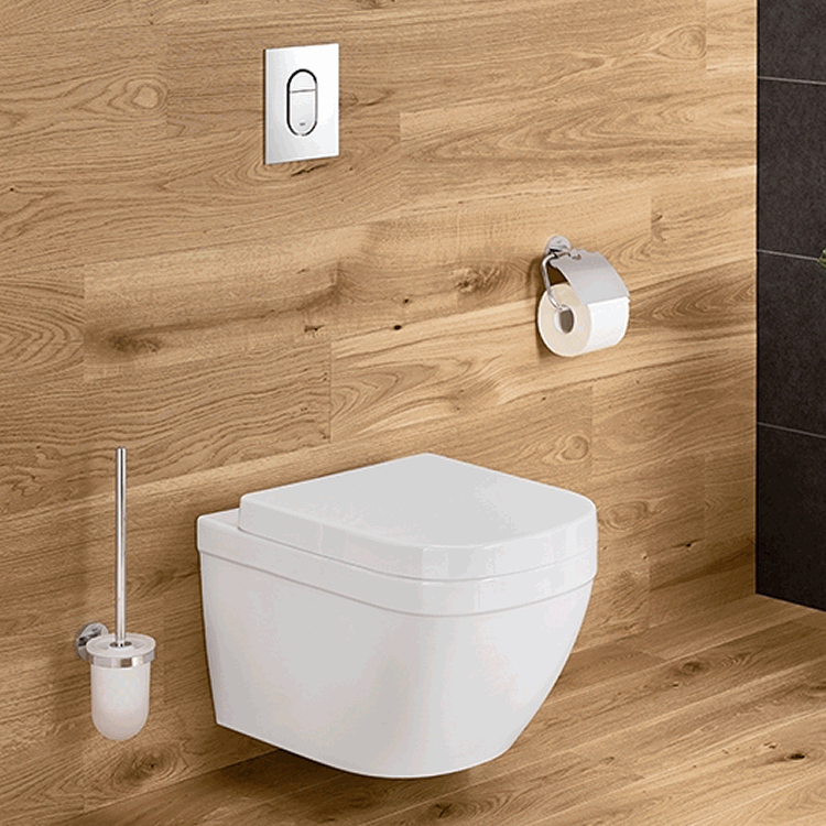 Grohe Euro Wall Hung WC & 1.0m WC Cistern Pack - Image 1