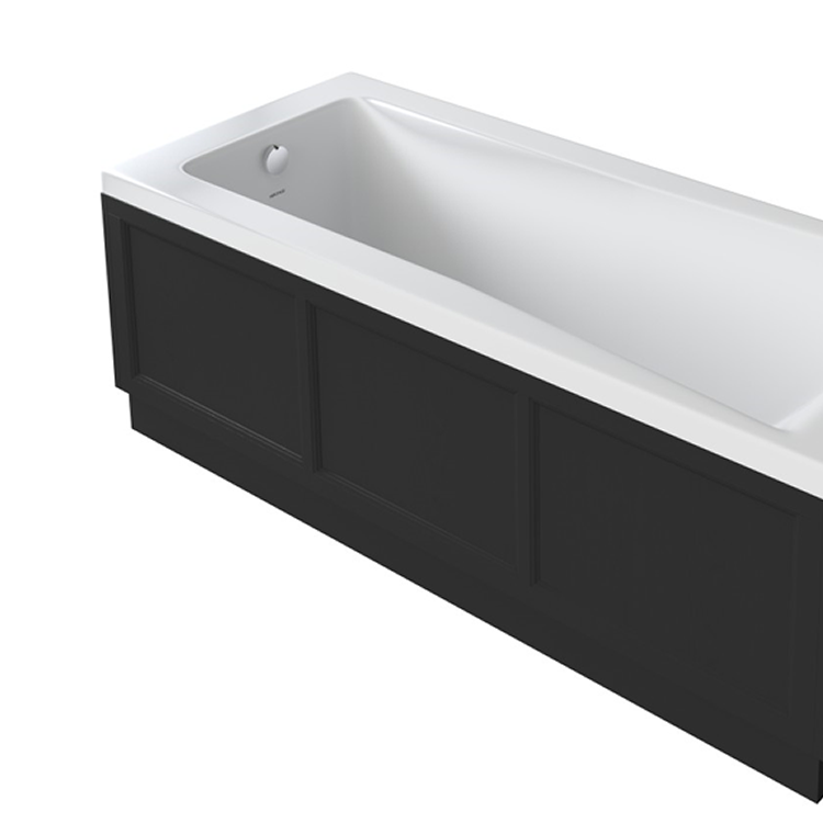 Photo of Heritage 1700mm Fitted Front Bath Panel Black