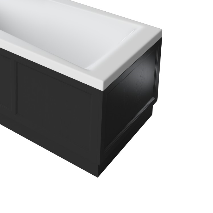 Photo of Heritage 800mm Fitted End Bath Panel Black