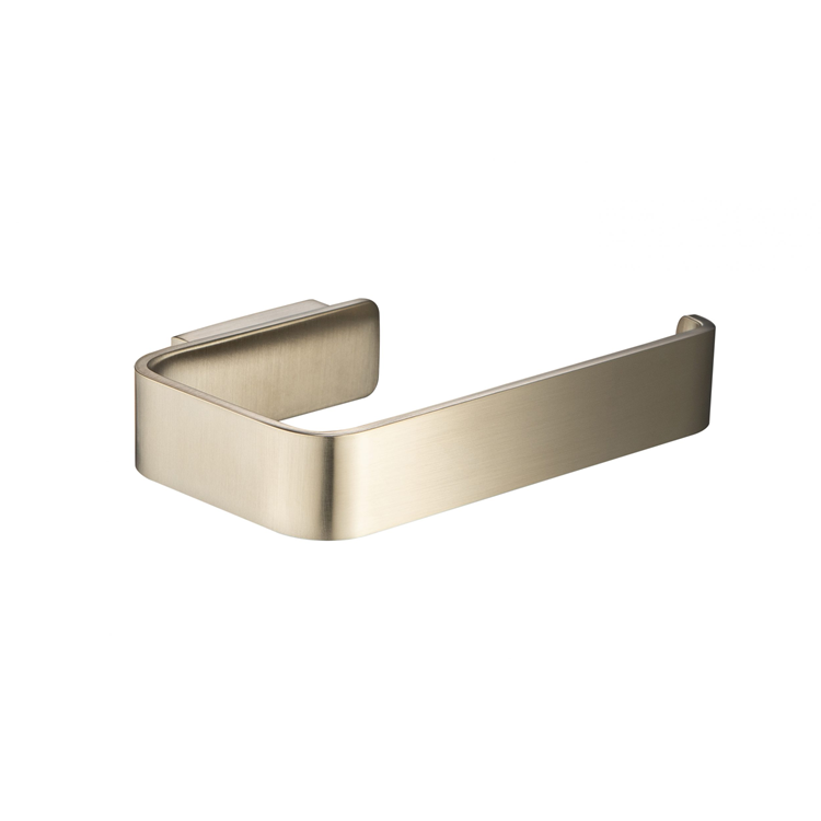 Photo of JTP Hix Brushed Brass Toilet Roll Holder Cutout
