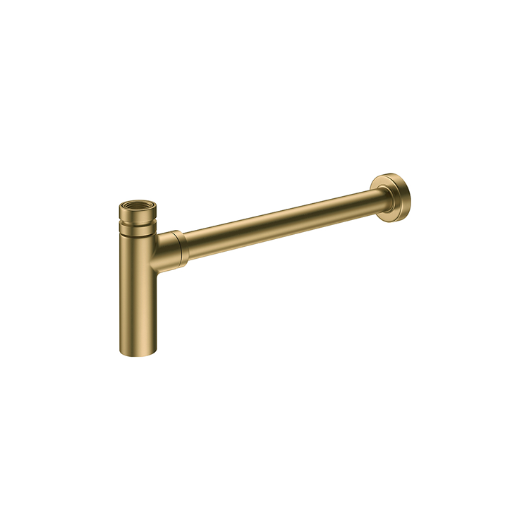 Photo of Britton Bathrooms Hoxton Brushed Brass Bottle Trap Cutout