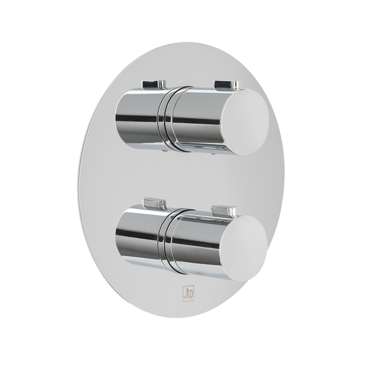Photo of JTP Hugo Two Outlet Round Thermostatic Shower Valve Cutout