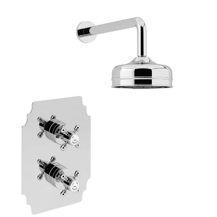 Heritage Hartlebury Recessed Shower With Premium Fixed Head Kit Chrome Finish