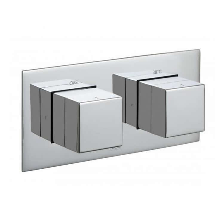 Vado Notion Horizontal Single Outlet Two Control Thermostatic Shower Valve Image 1