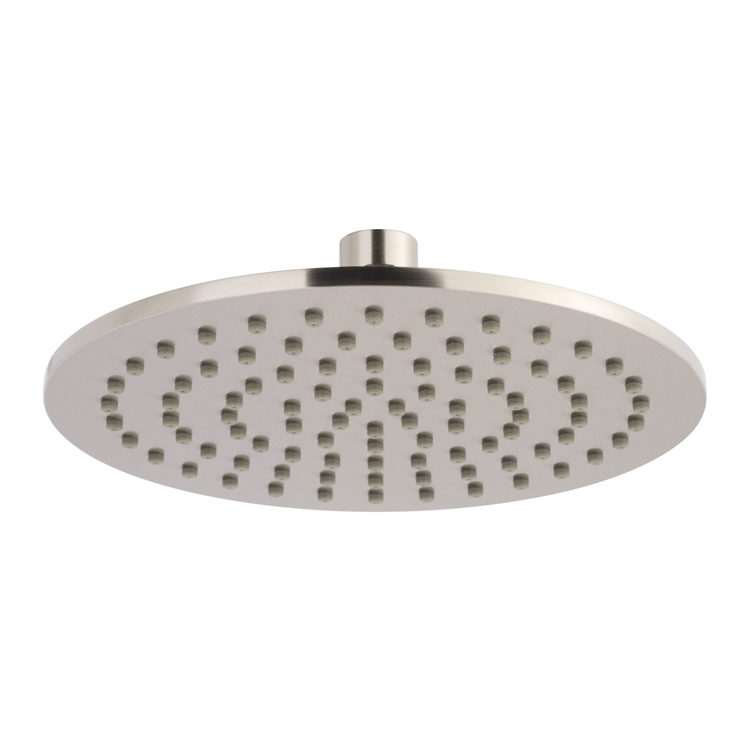 Photo of JTP Inox Brushed Stainless Steel 300mm Slim Round Shower Head Cutout