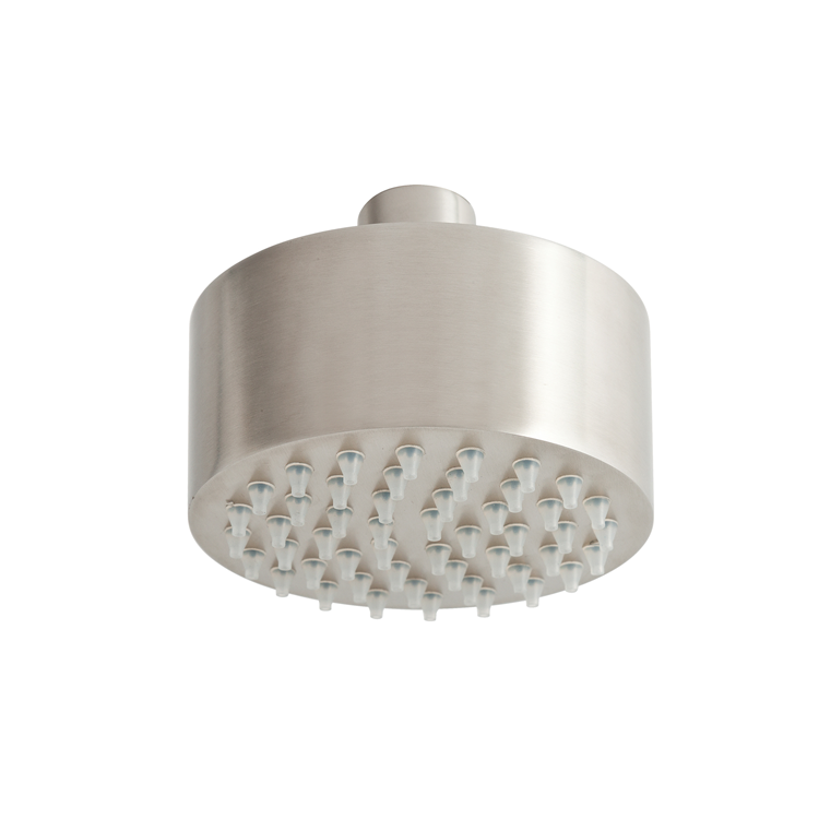 Photo of JTP Inox Brushed Stainless Steel Mini Overhead Shower Cutout