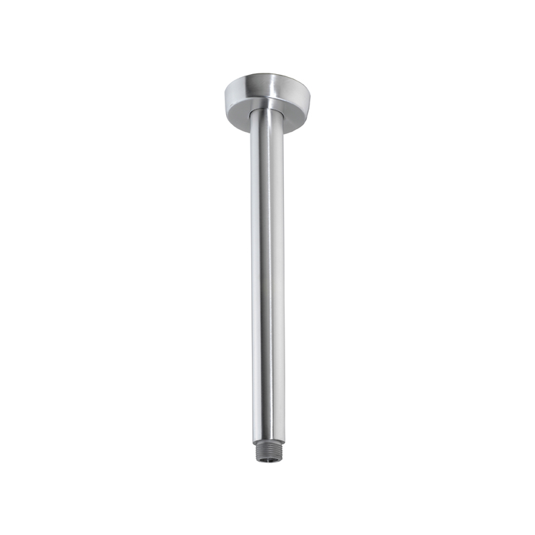 Photo of JTP Inox Brushed Stainless Steel 200mm Round Ceiling Shower Arm Cutout