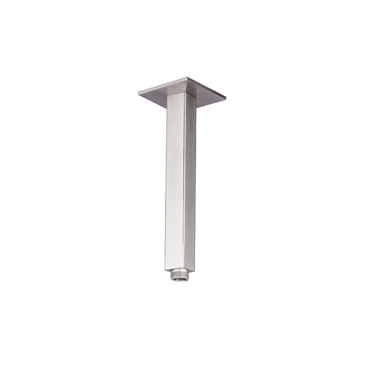 Photo of JTP Inox Brushed Stainless Steel 200mm Square Ceiling Shower Arm Cutout