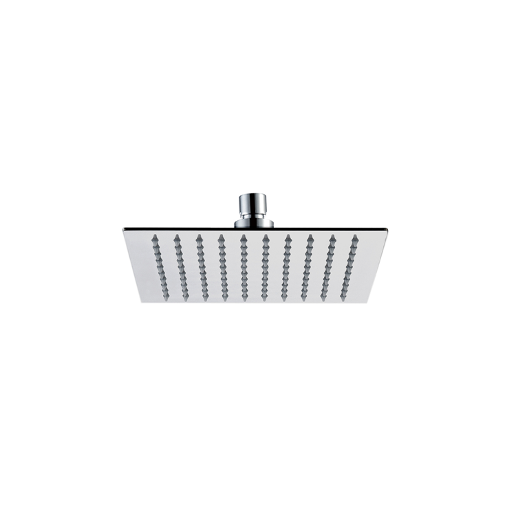 Photo of JTP Inox Brushed Stainless Steel Square Shower Head Cutout