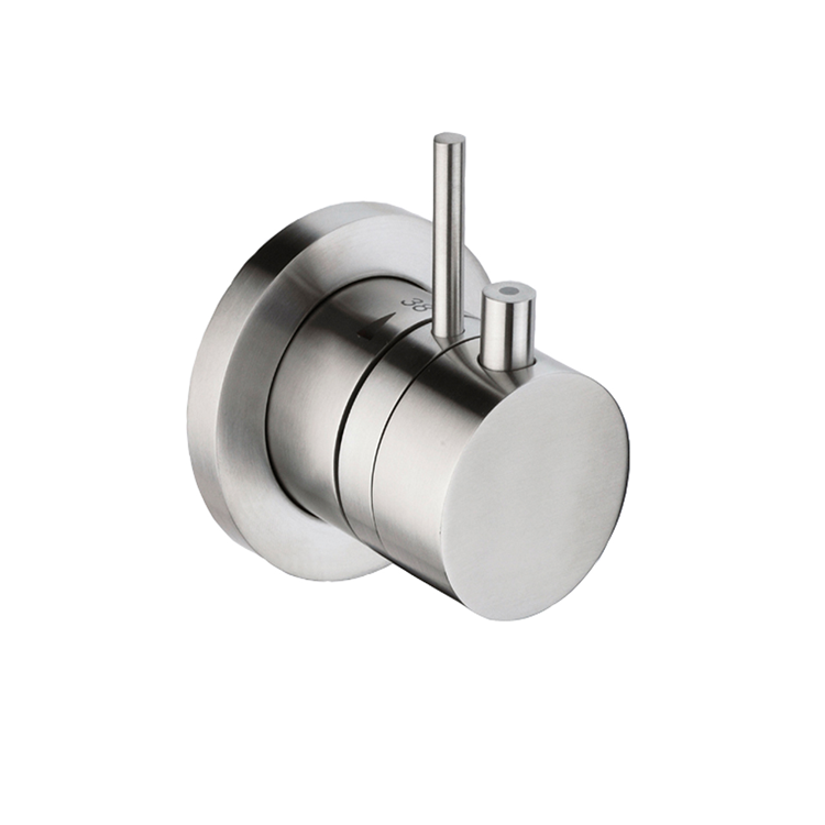 Photo of JTP Inox Brushed Stainless Steel Single Outlet Mixer Valve Cutout