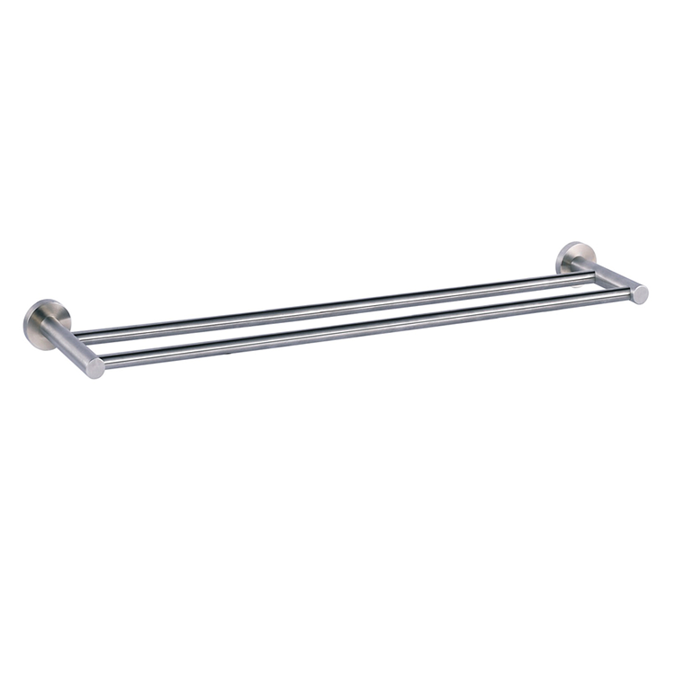 Photo of JTP Inox Brushed Stainless Steel Twin Towel Rail Cutout