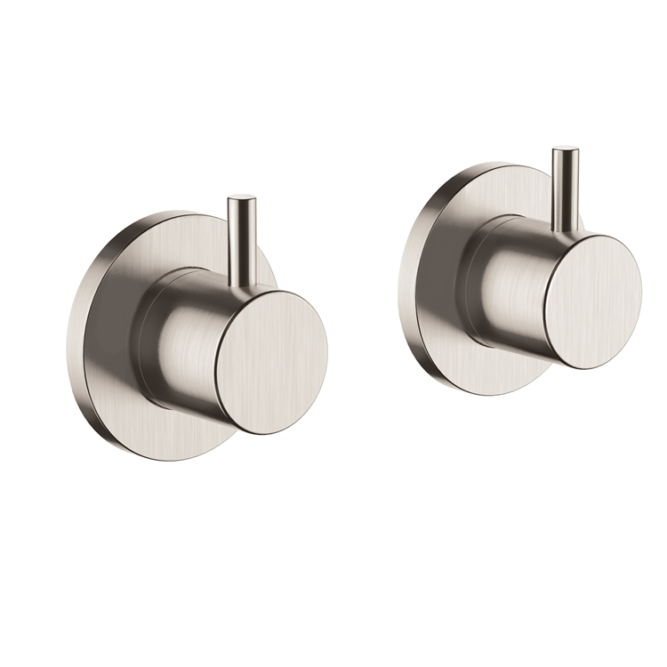 Photo of JTP Inox Brushed Stainless Steel Wall Panel Valves Cutout